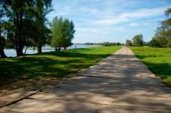 Baggermatten Fahrweg schont die Landschaft