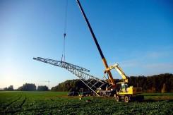 Bau von Freileitungen